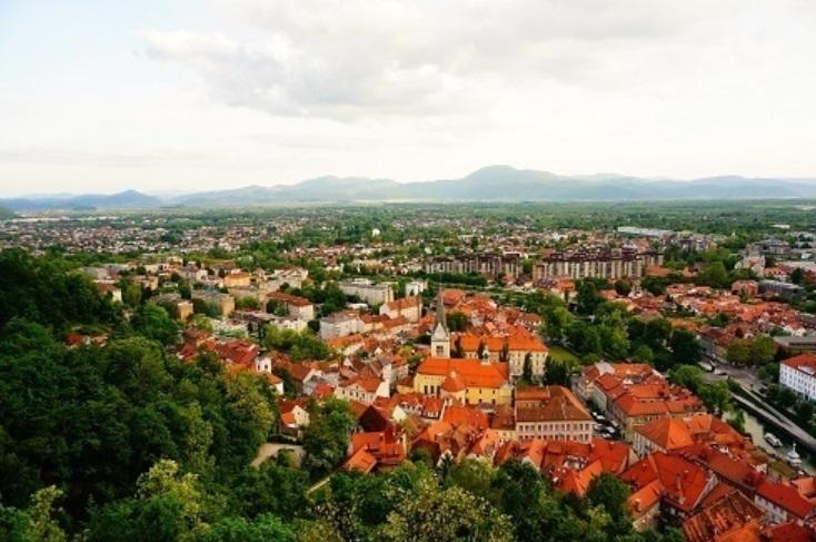 【スロヴェニア】お城から見渡すリュブリャナの街