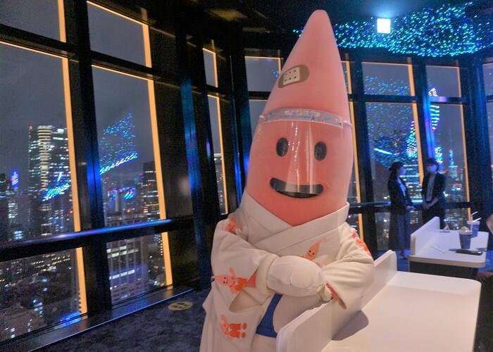 東京タワーのゆるキャラ。ノッポンくん。