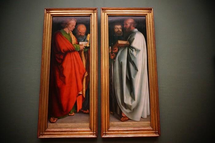 アルテ・ピナコテークにあるデューラーの代表作、『四人の使徒』。